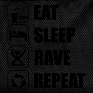 Eat sleep rave repeat t-shirt - Kinder Rucksack
