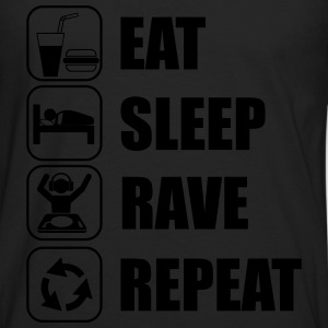 Eat sleep rave repeat t-shirt - Men's Premium Longsleeve Shirt