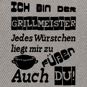 Grillmeister Spruch - Snapback Cap
