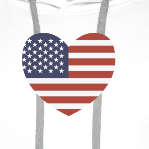 USA Heart T-Shirts - Men's Premium Hoodie