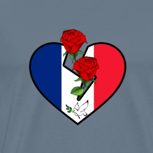 Love and Peace for France - Männer Premium T-Shirt