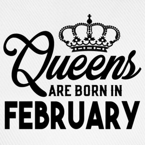Queens Are Born In February T-Shirts - Baseball Cap