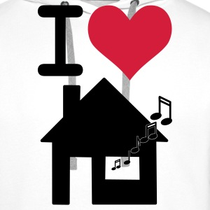 Blanc I love housemusic Tee shirts - Sweat-shirt à capuche Premium pour hommes