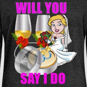 Will You Say I Do - Women's Boat Neck Long Sleeve Top