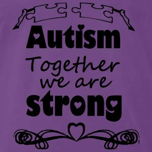 Autism  - together strong  Tops - Männer Premium T-Shirt