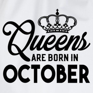 Queens Are Born In October T-Shirts - Drawstring Bag