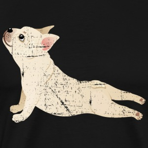 French Bulldog | Yoga Pose | Funny Illustration Sweaters - Mannen Premium T-shirt