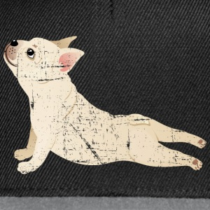 French Bulldog | Yoga Pose | Funny Illustration Toppar - Snapbackkeps