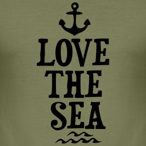 LOVE THE SEA Tops - Men's Slim Fit T-Shirt