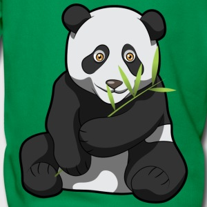 Panda Eating Bamboo - Men's Premium Hoodie