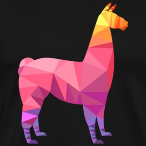 Llama Low Poly | Cool Geometric Design Gensere - Premium T-skjorte for menn