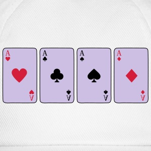Card Game, Poker, Ace Sportkleding - Baseballcap