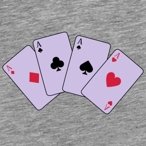 Card Game, Poker, Ace Petten & Mutsen - Mannen Premium T-shirt