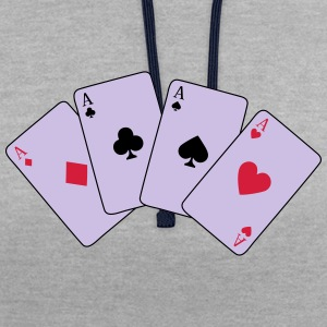Card Game, Poker, Ace T-Shirts - Contrast Colour Hoodie