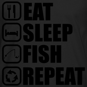 Eat,sleep,fish,repeat, Fisher, fisherman, fishing, - Men's Premium Longsleeve Shirt