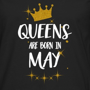 QUEENS ARE BORN IN MAY Tops - Men's Premium Longsleeve Shirt