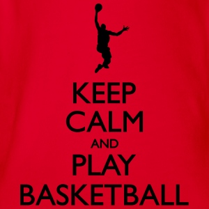 Keep calm and Play Basketball - Baby Bio-Kurzarm-Body