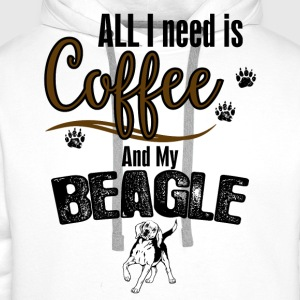 All I need is Coffee and my Beagle Tops - Men's Premium Hoodie