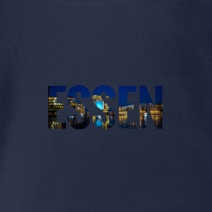 City Skyline Essen Langarmshirts - Baby Bio-Kurzarm-Body