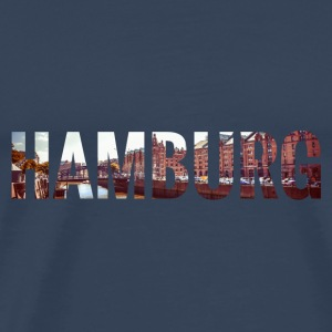 City Skyline Hamburg Tops - Männer Premium T-Shirt