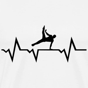 Gymnast, Gymnastics, Heartbeat - men Sports wear - Men's Premium T-Shirt
