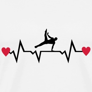 Gymnast, Gymnastics, Heartbeat & Hearts - men Sports wear - Men's Premium T-Shirt