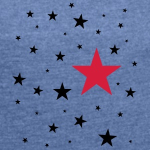 Stars - Women's T-shirt with rolled up sleeves