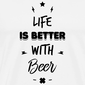 life is better with beer Bouteilles et Tasses - T-shirt Premium Homme