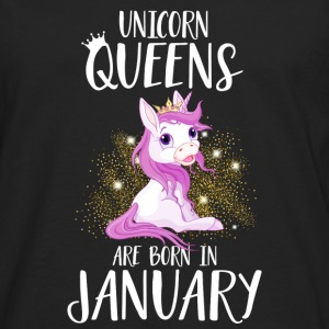 UNICORN QUEENS ARE BORN IN JANUARY Tops - Männer Premium Langarmshirt