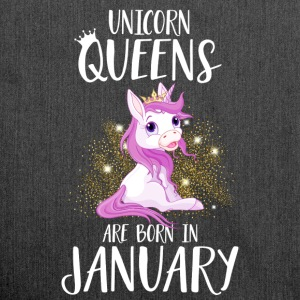 UNICORN QUEENS ARE BORN IN JANUARY T-Shirts - Shoulder Bag made from recycled material