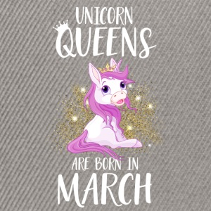 UNICORN QUEENS ARE BORN IN MARCH T-Shirts - Snapback Cap
