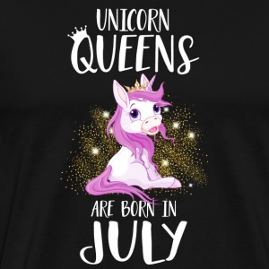 UNICORN QUEENS ARE BORN IN JULY Long Sleeve Shirts - Men's Premium T-Shirt
