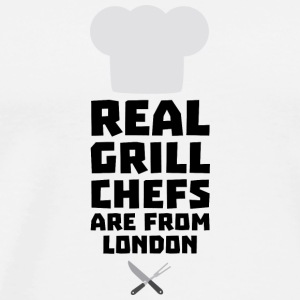 Real Grill Chefs are from London Sl16l Long Sleeve Shirts - Men's Premium T-Shirt