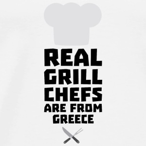 Real Grill Chefs are from Greece S75zj Tops - Men's Premium T-Shirt