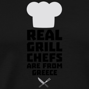 Real Grill Chefs are from Greece S75zj Hoodies & Sweatshirts - Men's Premium T-Shirt