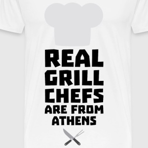Real Grill Chefs are from Athens S3y8t Baby Cap - Men's Premium T-Shirt