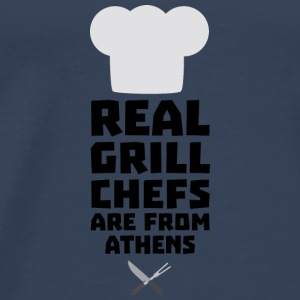 Real Grill Chefs are from Athens S3y8t Tops - Men's Premium T-Shirt