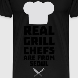 Real Grill Chefs are from Seoul S6ogi Baby Cap - Men's Premium T-Shirt