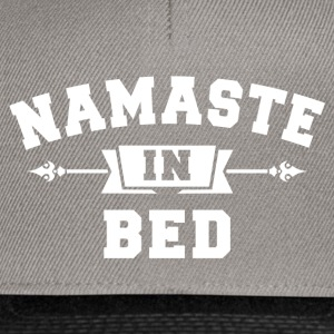 Namaste In Bed T-Shirts - Snapback Cap
