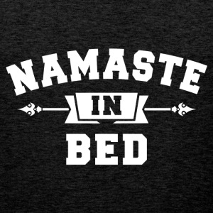 Namaste In Bed T-Shirts - Men's Premium Tank Top