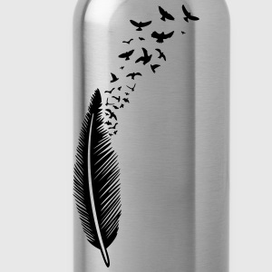 Large feather from which many birds fly Hoodies & Sweatshirts - Water Bottle