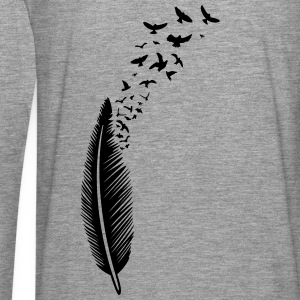 Large feather from which many birds fly Hoodies & Sweatshirts - Men's Premium Longsleeve Shirt