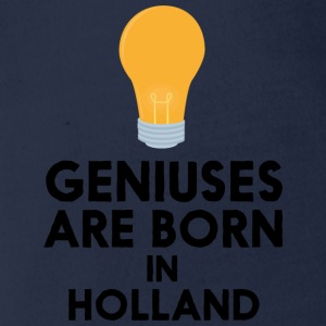 Geniuses are born in HOLLAND 22 Shirts - Organic Short-sleeved Baby Bodysuit