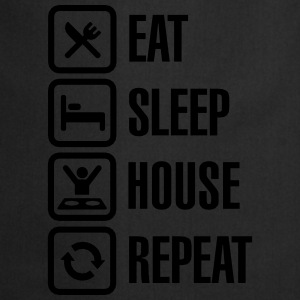 Eat Sleep House Repeat T-Shirts - Cooking Apron