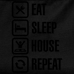Eat Sleep House Repeat T-skjorter - Ryggsekk for barn
