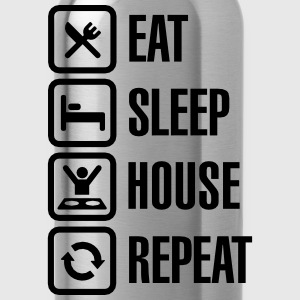 Eat Sleep House Repeat T-skjorter - Drikkeflaske