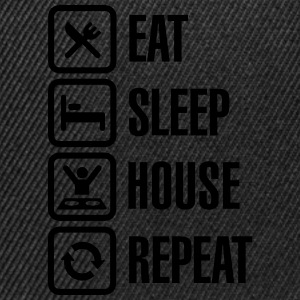 Eat Sleep House Repeat T-shirts - Snapbackkeps