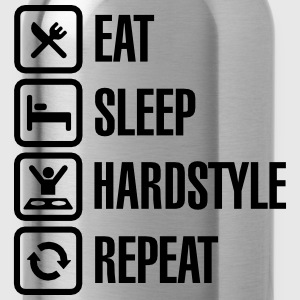 Eat Sleep hardstyle Repeat T-Shirts - Trinkflasche