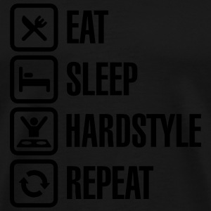 Eat Sleep hardstyle Repeat Sweat-shirts - T-shirt Premium Homme