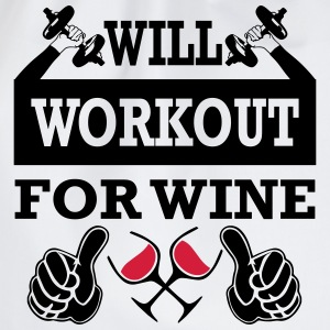 Will Workout For Wine T-Shirts - Drawstring Bag